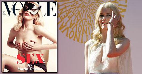 """Claudia Schiffer ließ für """"Vogue"""" die Hüllen fallen (Bild: AP Photo, Cover Vogue)"""