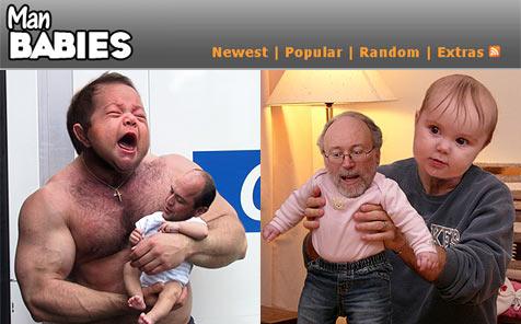 Neue Fotoplattform zeigt Papa/Baby-Montagen