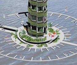 Wolkenkratzer als Hightech-Gewächshäuser? (Bild: Columbia University)