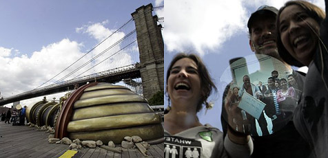Sichtkontakt zwischen London und New York