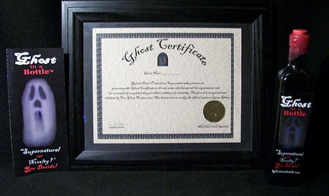 Amerikaner verkauft gefangene Gespenster (Bild: http://aghostinabottle.com/)