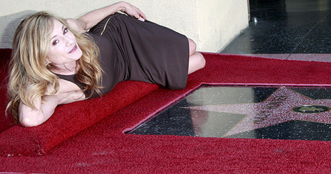 Holly Hunter am Walk of Fame