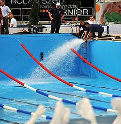 Panne bei Fünfkampf: Kein Wasser im Becken!