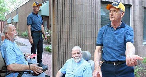 Rollstuhlfahrer und Rentner schnappen Diebin