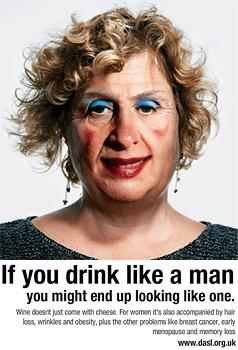 Britische Kampagne sensibilisiert trinkende Frauen (Bild: dasl.org.uk)