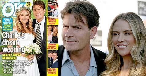 So romantisch war Charlie Sheens Hochzeit
