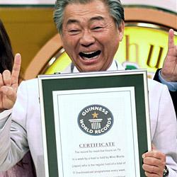 Japaner ist der fleißigste TV-Moderator der Welt