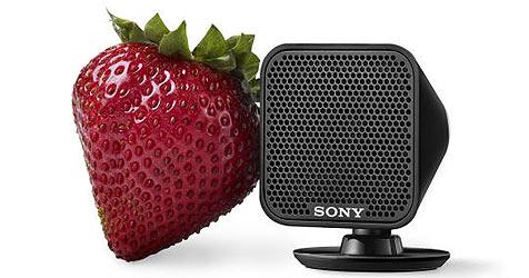 Sony-Lautsprecher sind so klein wie eine Erdbeere (Bild: Sony)