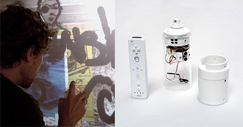 """""""Wiispray"""" verwandelt Controller in Spraydose (Bild: Wiispray)"""