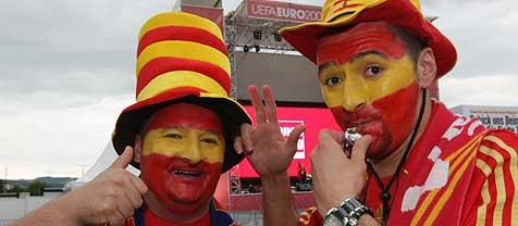 ¿Erst holt Spanien EM-Titel, dann wird geheiratet¿ (Bild: Chris Koller)