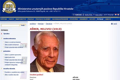 Serbien beantragt Auslieferung von Milivoj Asner