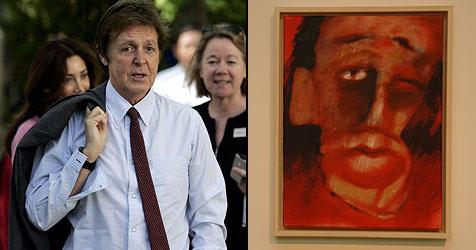 Paul McCartney versucht sich als Maler (Bild: AP Photo, Painting by Paul McCartney ©2008 Paul McCartney)