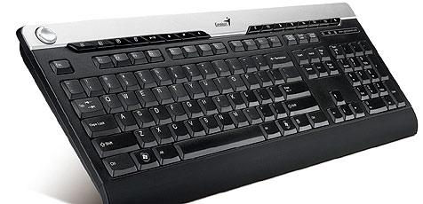 Flüssigkeiten trotzende Tastatur von Genius (Bild: Genius)