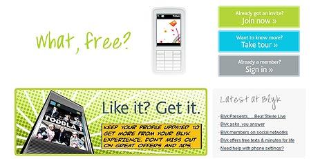 Handy-Telefonate gegen Werbe-MMS (Bild: Blyk.co.uk)