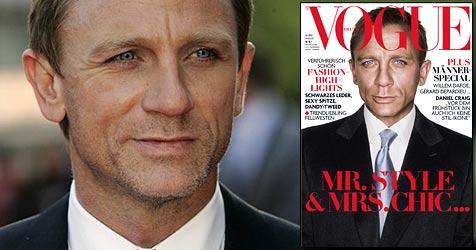 """Craig als erster Mann auf der deutschen """"Vogue"""" (Bild: VOGUE 8/08. Foto: Rankin)"""