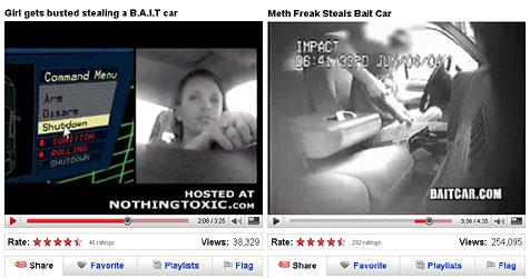 US-Polizei filmt Autodiebe in Lockvogelwagen