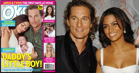 McConaughey und seine Camila zeigen ihr Baby (Bild: Cover OK!, AP Photo)