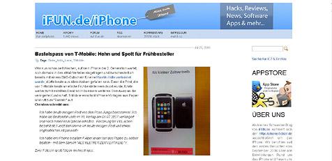 T-Mobile Deutschland: Papierbastelset statt iPhone