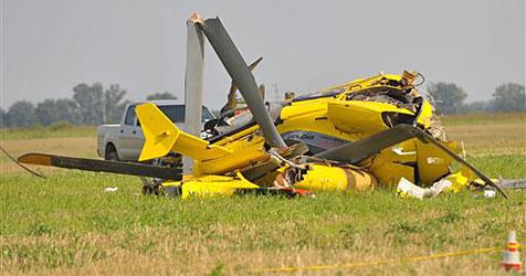 Notarzthelikopter bei Einsatz in Ungarn abgest�rzt