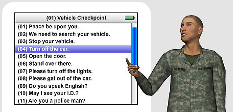 US-Soldaten setzen auf iPod als Übersetzungshilfe (Bild: Vcom3d.com)