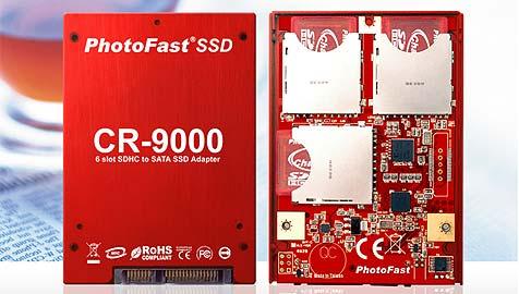 Eigenbau-SSD aus Speicherkarten (Bild: Photofast)