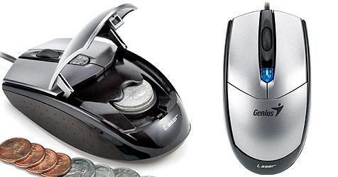 Gamer-Maus von Genius mit Münzfach (Bild: Genius)