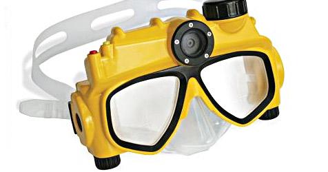 Erste Taucherbrille mit integrierter Digitalkamera (Bild: Hammacher.com)