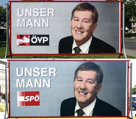 """""""Blinder Kandidat"""" mischt im Wahlkampf mit (Bild: APA/HERBERT PFARRHOFER)"""