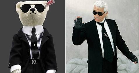 Karl Lagerfeld entwirft Teddy nach eigenem Antlitz (Bild: APA/STEIFF bzw. AP)