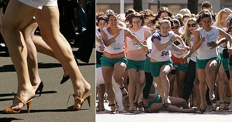 265 Frauen bei Stiletto-Sprint