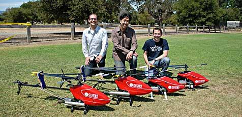 Roboter-Helis lernen Stunts durch Beobachten (Bild: Stanford.edu)