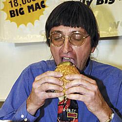 Mann will 23.000 Burger gegessen haben (Bild: AP)
