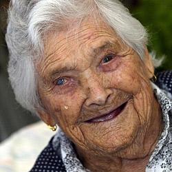 Älteste Europäerin feiert ihren Geburtstag (Bild: dpa/LUSA/A3126 epa Lusa Antonio Cotrim)