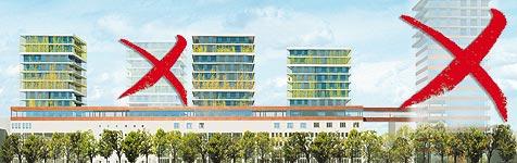 Pläne für Hochhäuser stellen Anrainer zufrieden (Bild: Krone Grafik)