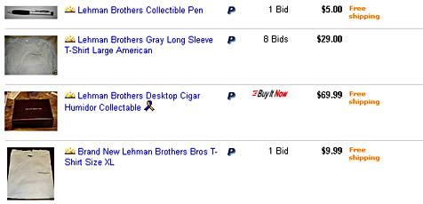 Investmentbank-Souvenirs als Renner auf eBay