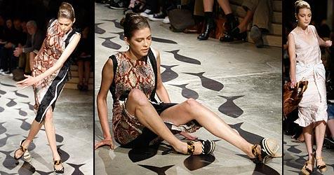 Catwalk-Stürze bei Prada-Show