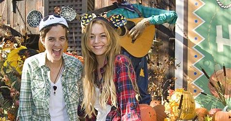 Lindsay und Sam feiern im Disneyland