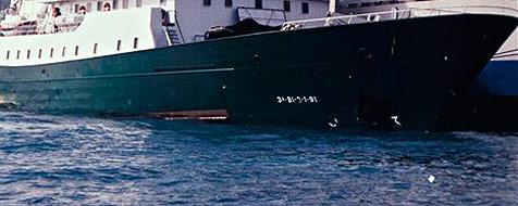 Schiff verliert auf der Donau im Mostviertel Öl