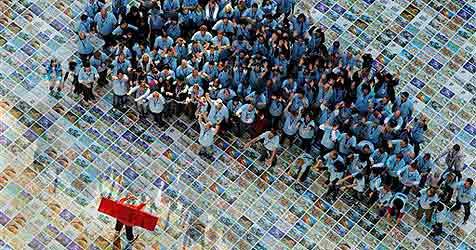Weltrekord-Puzzle mit 1,15 Millionen Teilen