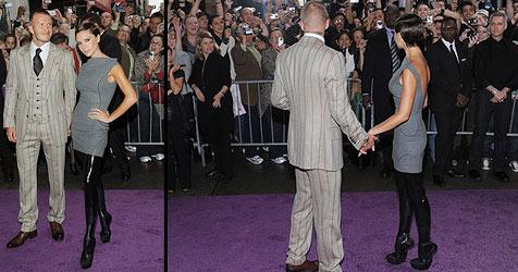 Beckham auf stöckellosen High-Heels unterwegs