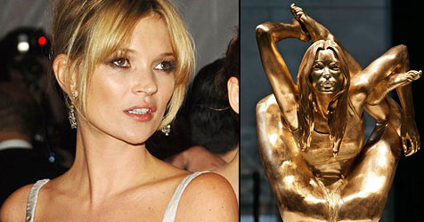 Goldene Kate Moss im British Museum enthüllt