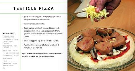 Weltweit erstes Hoden-Kochbuch veröffentlicht (Bild: Yudu.com)