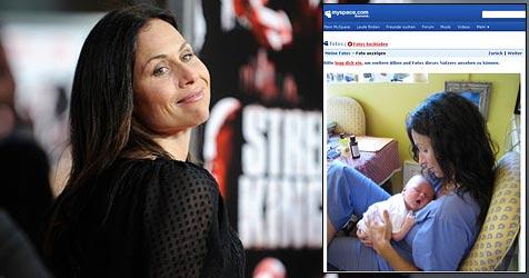Minnie Driver zeigt ihren Sohn - im Internet! (Bild: AP Photo, MySpace.com)