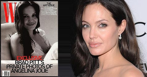 Kritik an Angelina Jolies Still-Foto (Bild: Cover W Magazine, AP Photo)