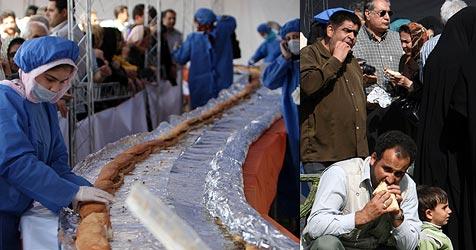 Rekord-Sandwich im Iran zu früh verspeist