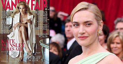 Kate Winslet sorgt mit Nacktfotos für Aufsehen (Bild: Vanity Fair)