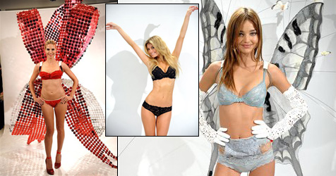 "Victoria""s-Secret-Engel probieren ihre Dessous"