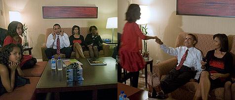 So unspektakulär erlebte Familie Obama die Wahl