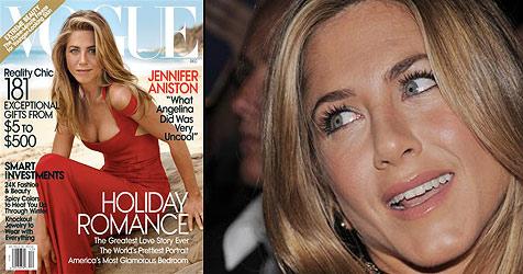Aniston spricht erstmals über ihre Rivalin Jolie (Bild: AP/Vogue)