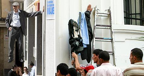Performance löst in Kairo Feuerwehreinsatz aus (Bild: AFP)